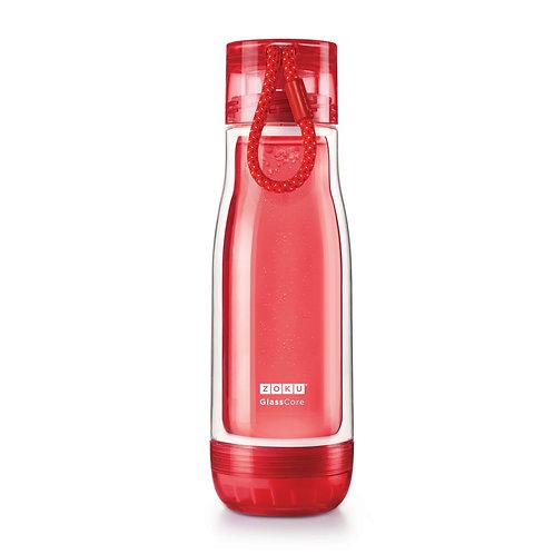 ZOKU - 紅色玻璃水樽(16oz / 470ml)