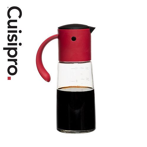 Cuisipro 自動開合玻璃油壺 350ml - 紅色