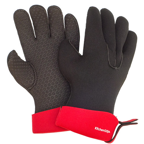KitchenGrips 五指防滑隔熱手套 - 櫻桃紅
