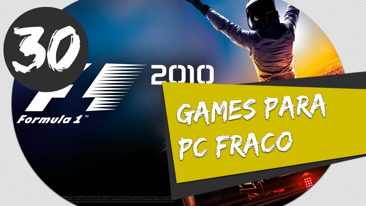 GAMES PARA PC FRACO - F1 2010