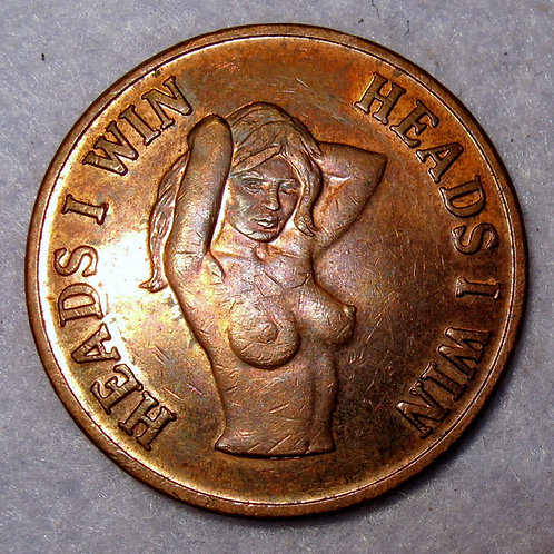 Magic token brothel heads I win tails you lose flip coin exotic naked girl