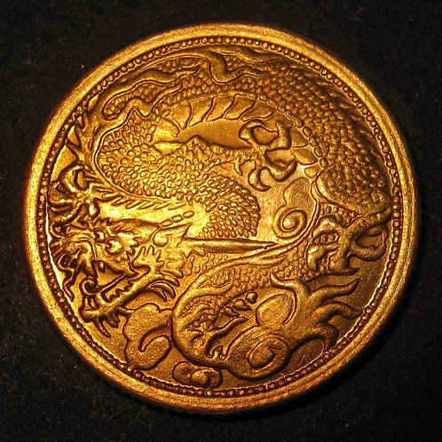 Yuan Shi Kai, Flying Dragon in River Gold Coin 翻江龍金幣 SP Solid Pure Gold
