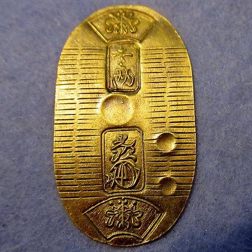 Japan SAMURAI Tokugawa Gold Coin Koban Man'en gold Koban