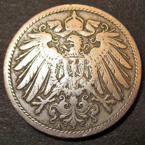 Germany 1899 Nickel 10 Pfennig German Emperor Wilhelm II Imperial eagle
