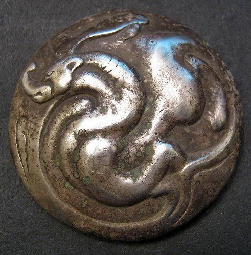 Silver Bai Jin San Pin, Dragon Coin, value 3000 Cash Emperor Han Wudi 119 BC