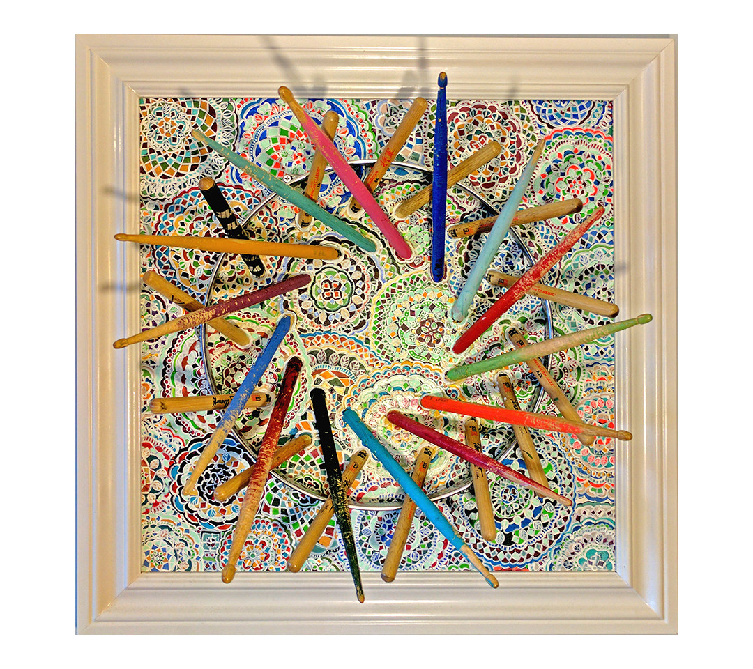 """""""Drum Song Mandala"""" (Collaboration with Clarkia Cobb)"""