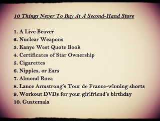 10 Things Never to Buy at a Second-hand Store