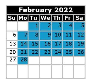 Monthly Calendar - Swim Dates February 2022 Fresno.jpg