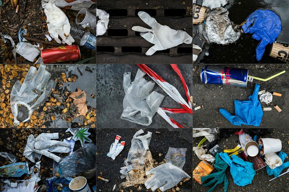 Single-use medical plastics causing pollution.