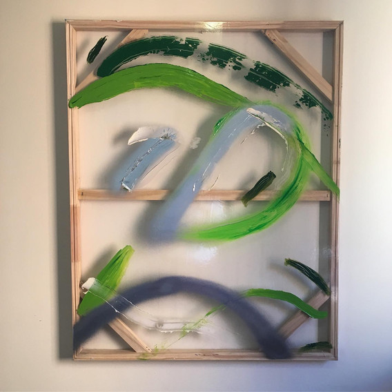 Aubade in green and silver