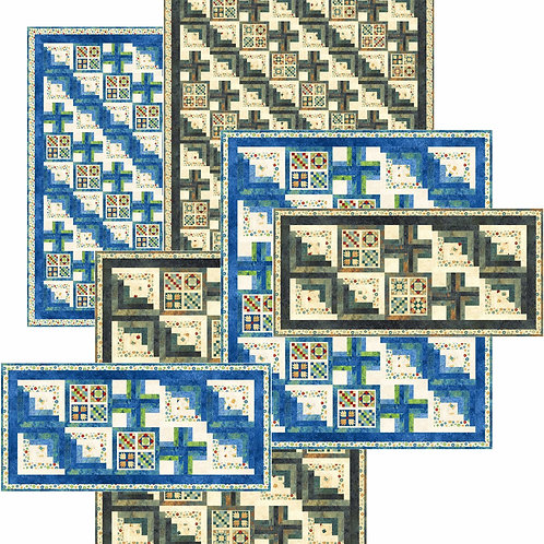 Pattern - #129 - Grannie's Log Cabin_sample