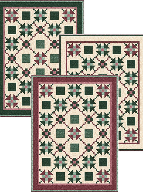 Pattern - #12 Red and Green Quilts