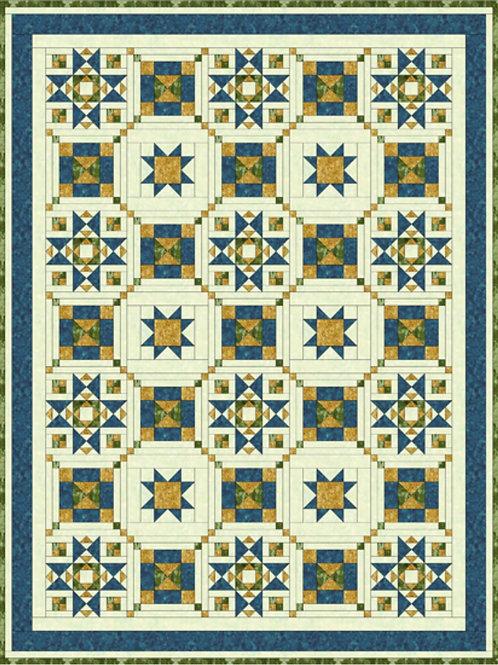 Pattern - #19 Grannie's Star Quilt #1