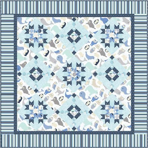 Pattern - #34 Arctic Stars Child's quilt