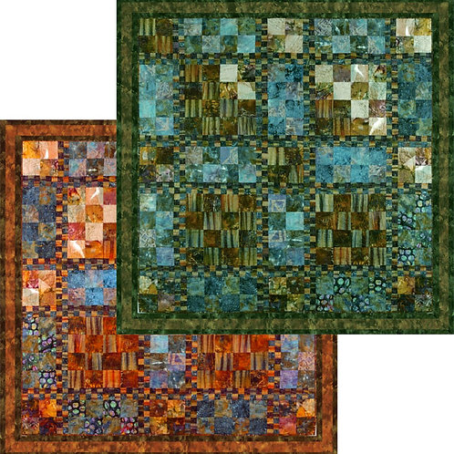 Pattern - #3 Sunset Quilt in 2 sizes and 2 colors