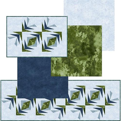 Pattern - #6 Water Reeds Placemats, etc,