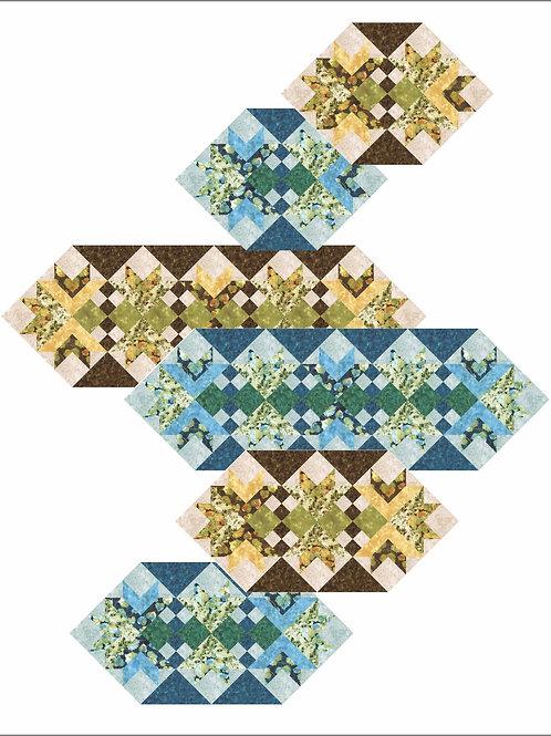 Pattern - #13 Goose Tracks Mats and Runner