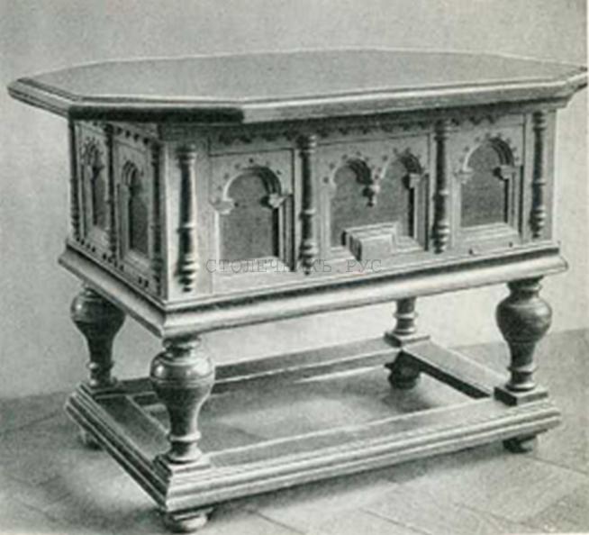 Стол с подстольем, Россия, 18 век