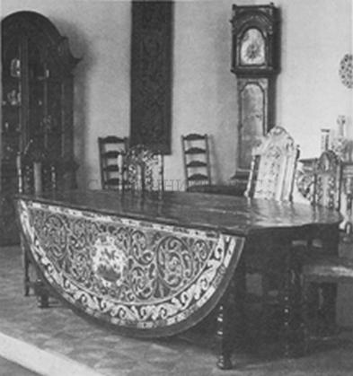 Стол со складной столешницей, Россия, 18 век