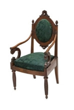Кресло в готическом вкусе – типичный образец мебели мастерской Генриха Гамбса.