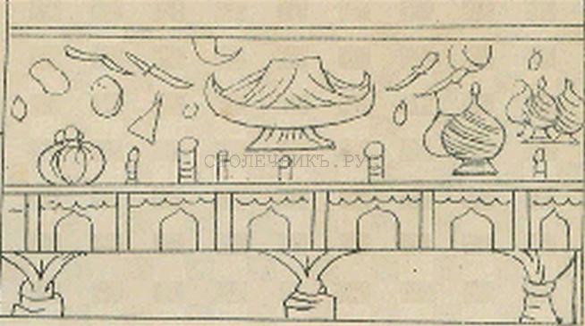 Стол, украшения резьбой, Русь, 17 век