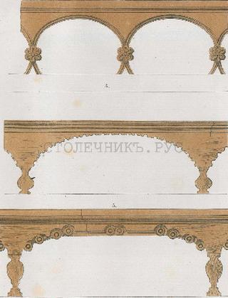 Изображения скамеек из альбома Л.Даля