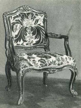 Деревянное кресло, Россия, 18 век