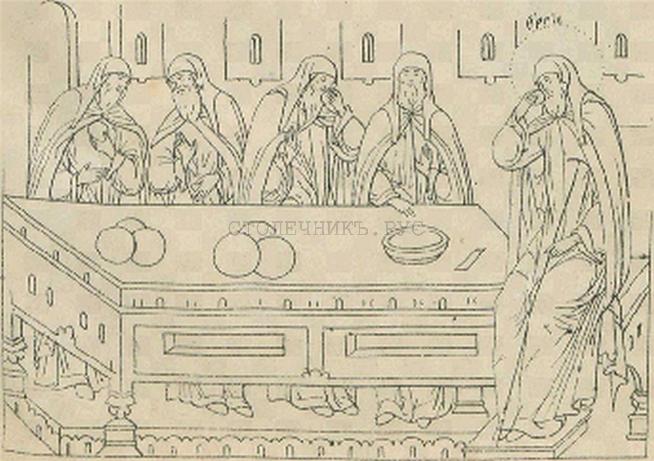 Большой обеденный стол. Русь, 14 век
