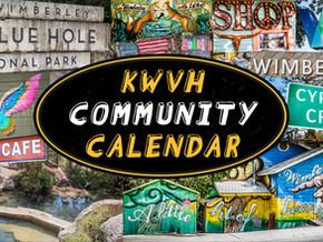 KWVH COMMUNITY CALENDAR