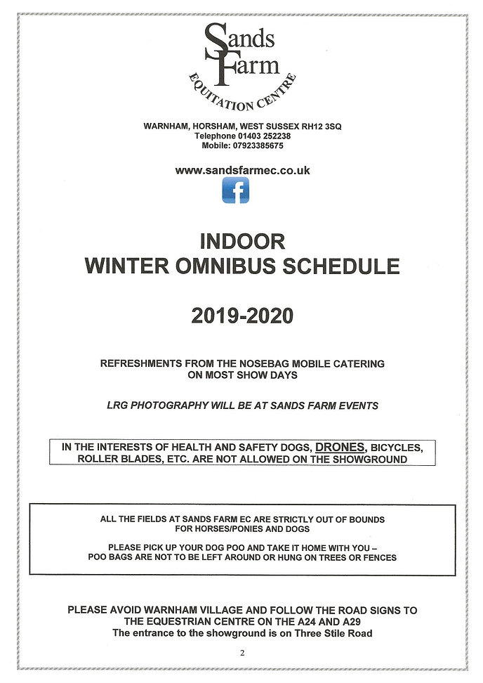 Winter 2019/20 Schedule | sandsfarm-1