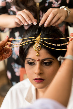 Indian bridal makeup and hair