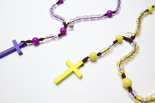 Pony Rosary with Cross/  Rosario Pony con Cruz