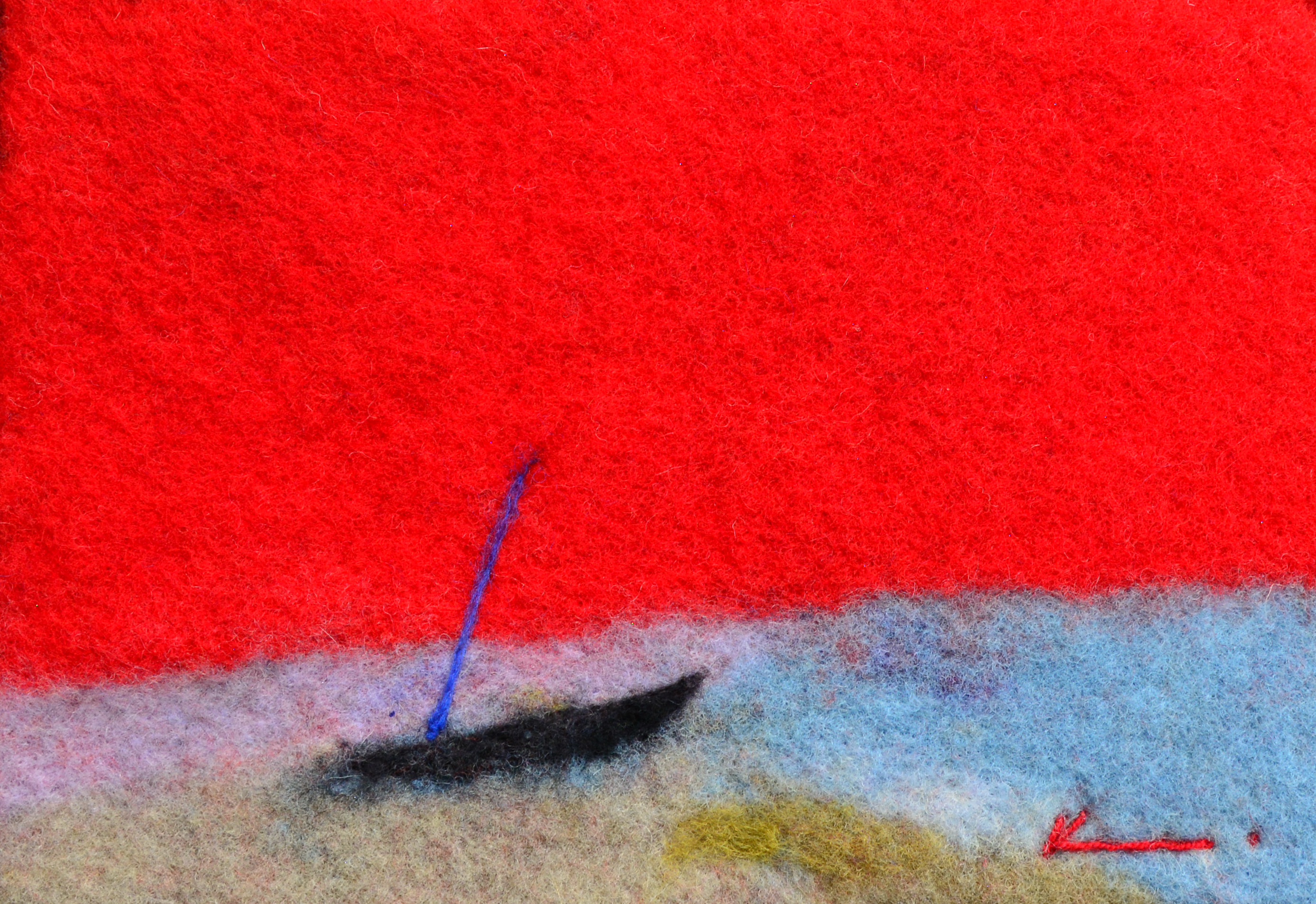 FeltPainting / Sunday Beach