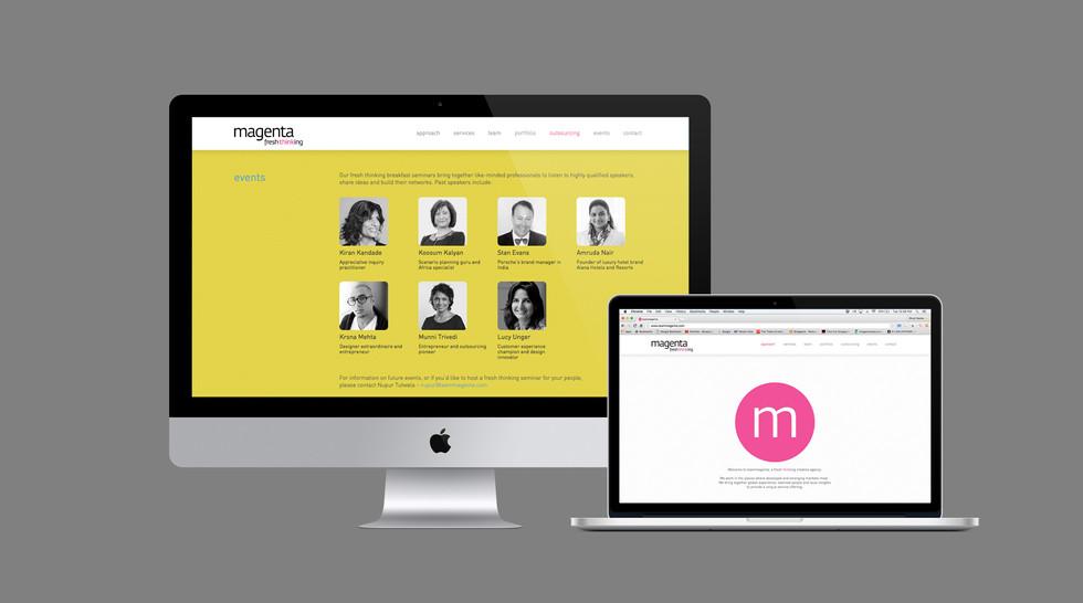 Website design :