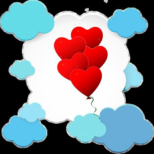 Шар сердце 30 см .