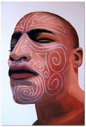 Maori, 2011, Oel auf Leinwand, 50 x 70 cm
