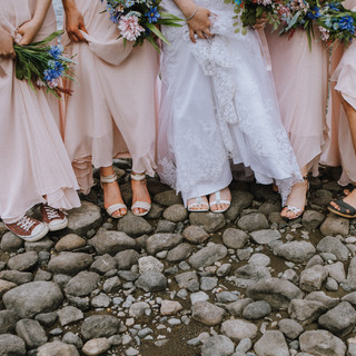 wedding party, bridal party shoes, bridal party dresses