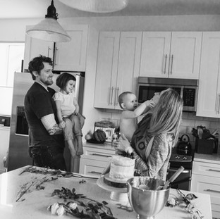 family lifestyle cooking photography session