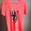Thumbnail: T-shirt corail/rose Fluo