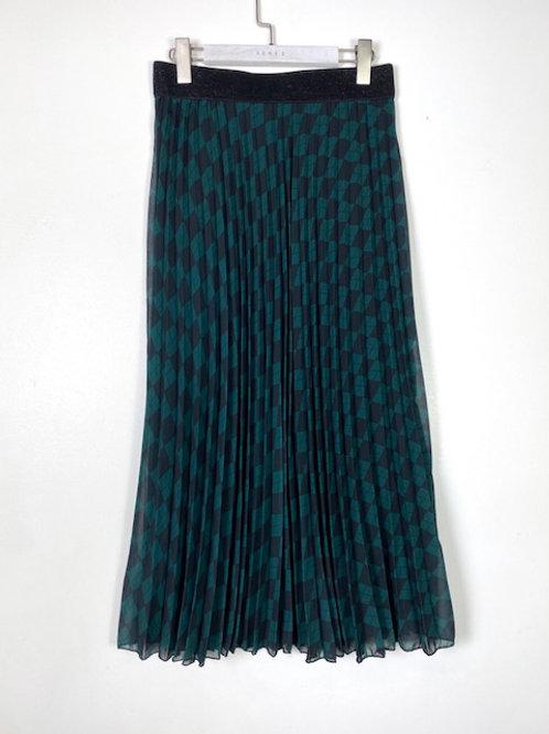 Jupe longue noire/verte