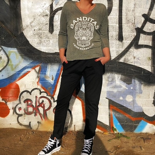 "T-shirt Skull ""Banditas from Marseille"""