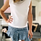Thumbnail: T-shirt blanc épaulettes