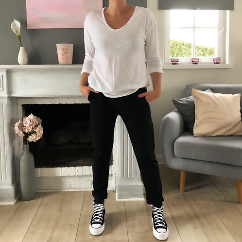 T-shirt longues manches Blanc