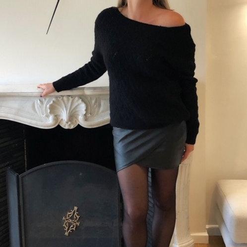Jupe courte simili cuir
