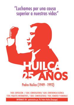 Afiche Pedro Huilca, dirigente sindi