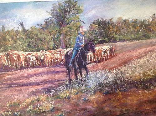 "Sold ""Following the long paddock"""