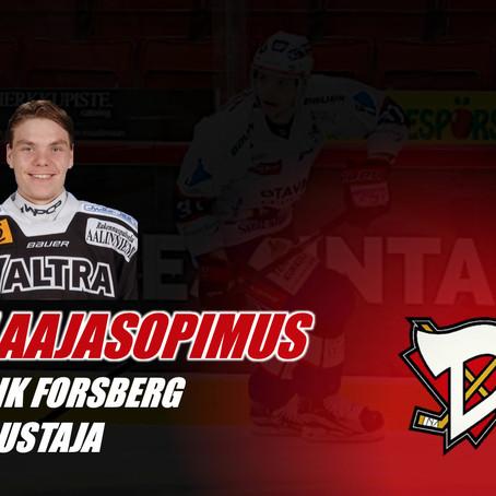Patrik Forsberg D-Kiekon takalinjoille