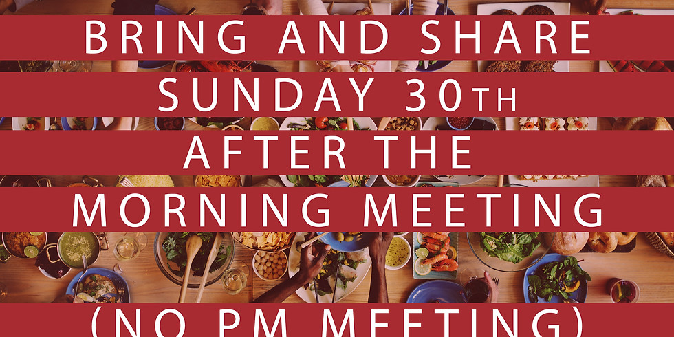 Meeting together in Peel followed by bring & share lunch
