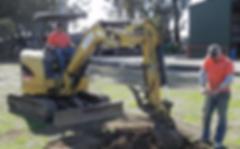 Harrison Concrete Cutting Mini Excavator