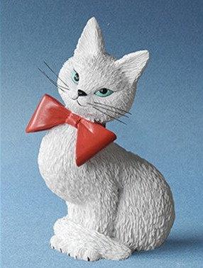 chat de dubout précieuse parastone chats de dubout precieuse chat dubout sculpture chatte blanche figurine chat debout cats